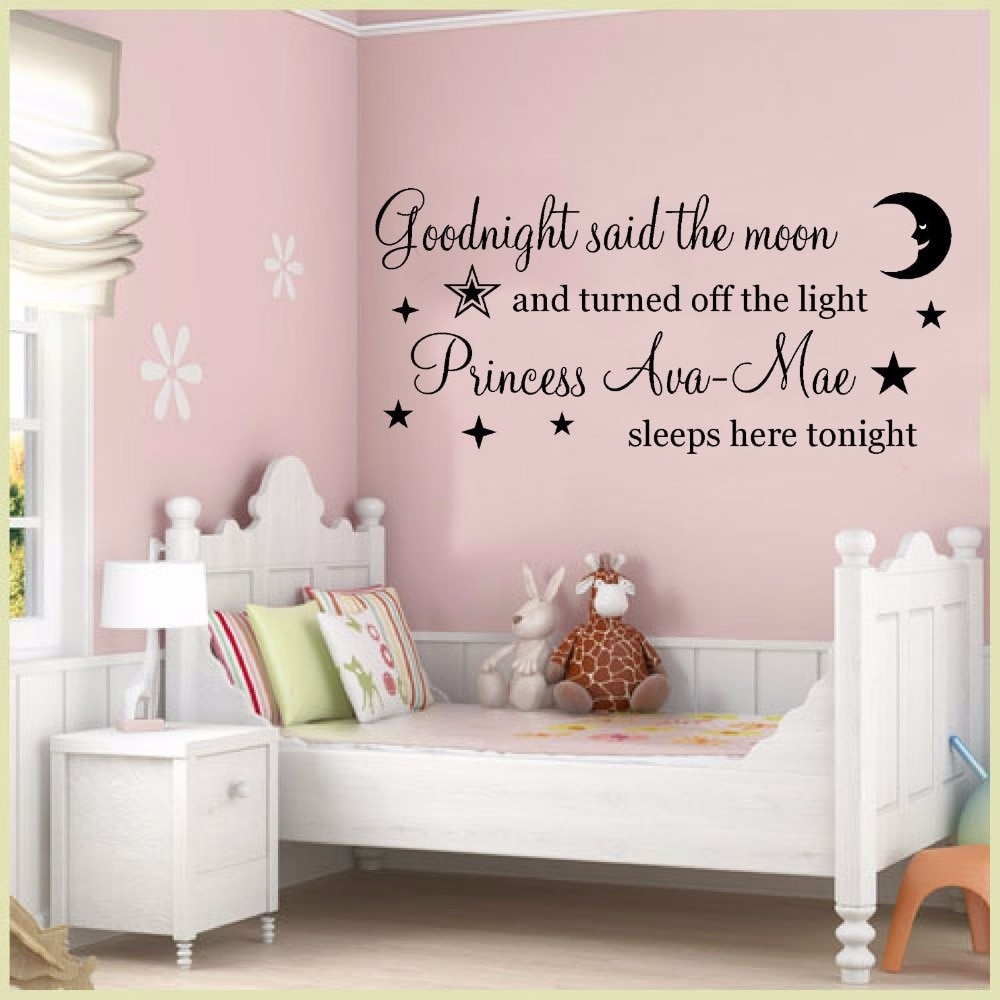 girls room wall art mural removable vinyl wall decal