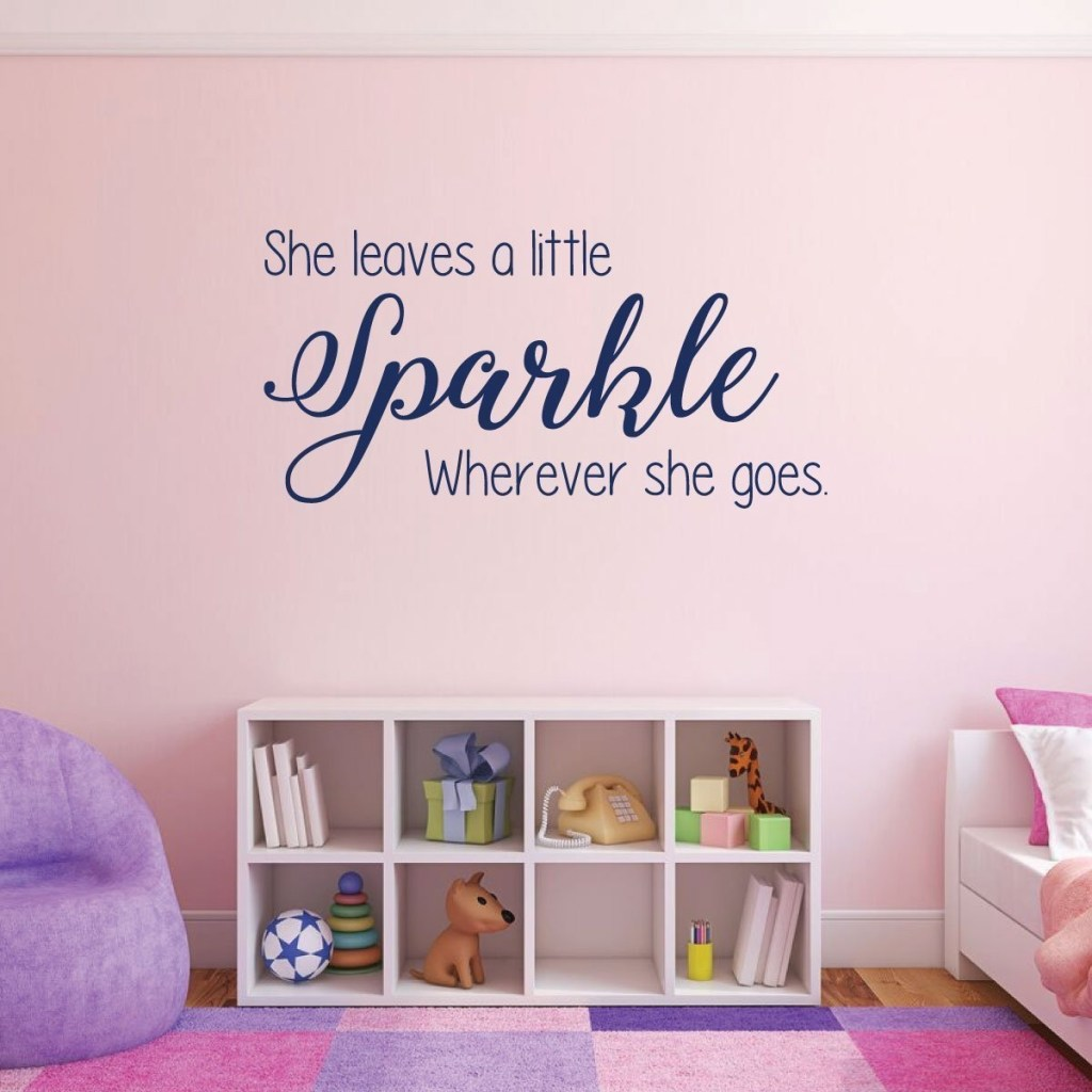 girls room wall decor she vinyl decor wall decal