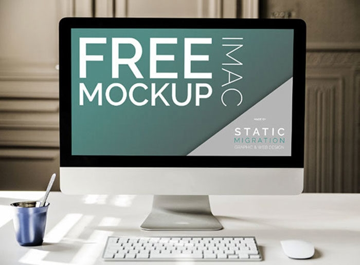 imac mockup collection in psd format to check out free