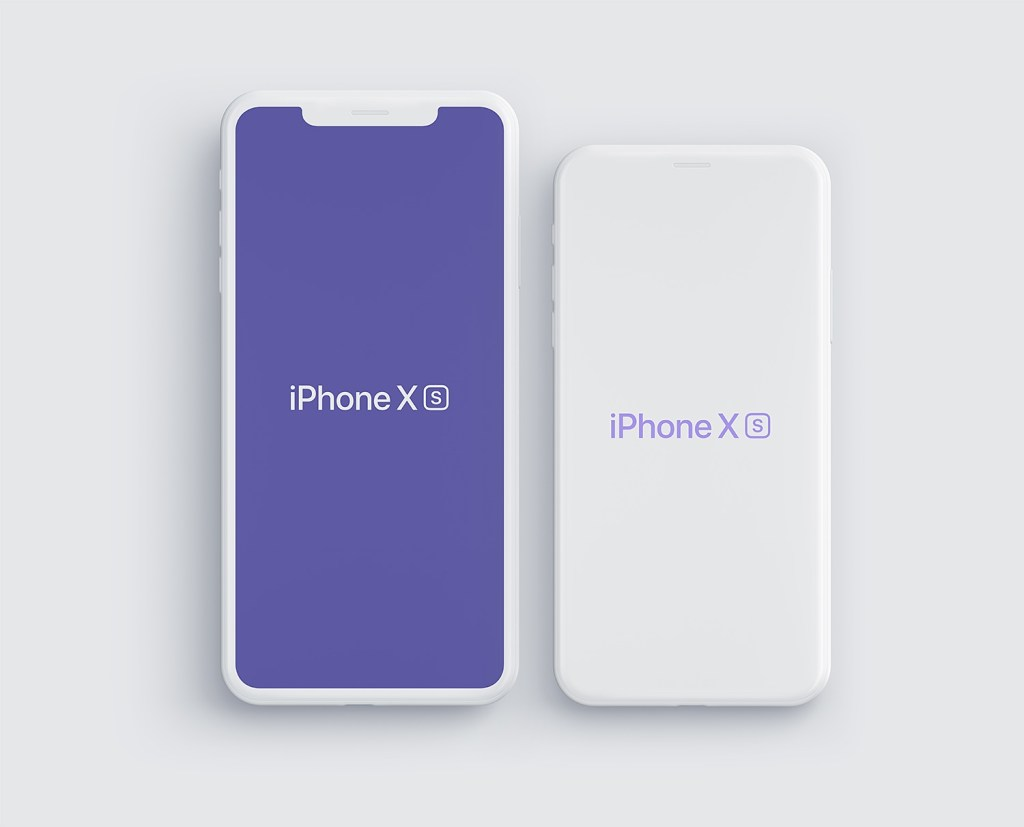 iphone xs and iphone xs max mockups free psd and sketch