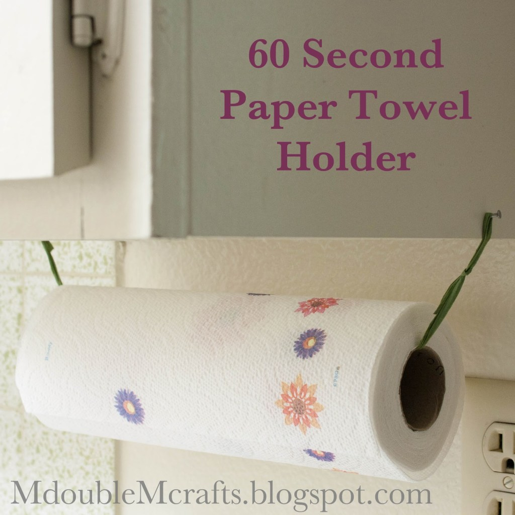 m double m incredibly easy paper towel holder diy