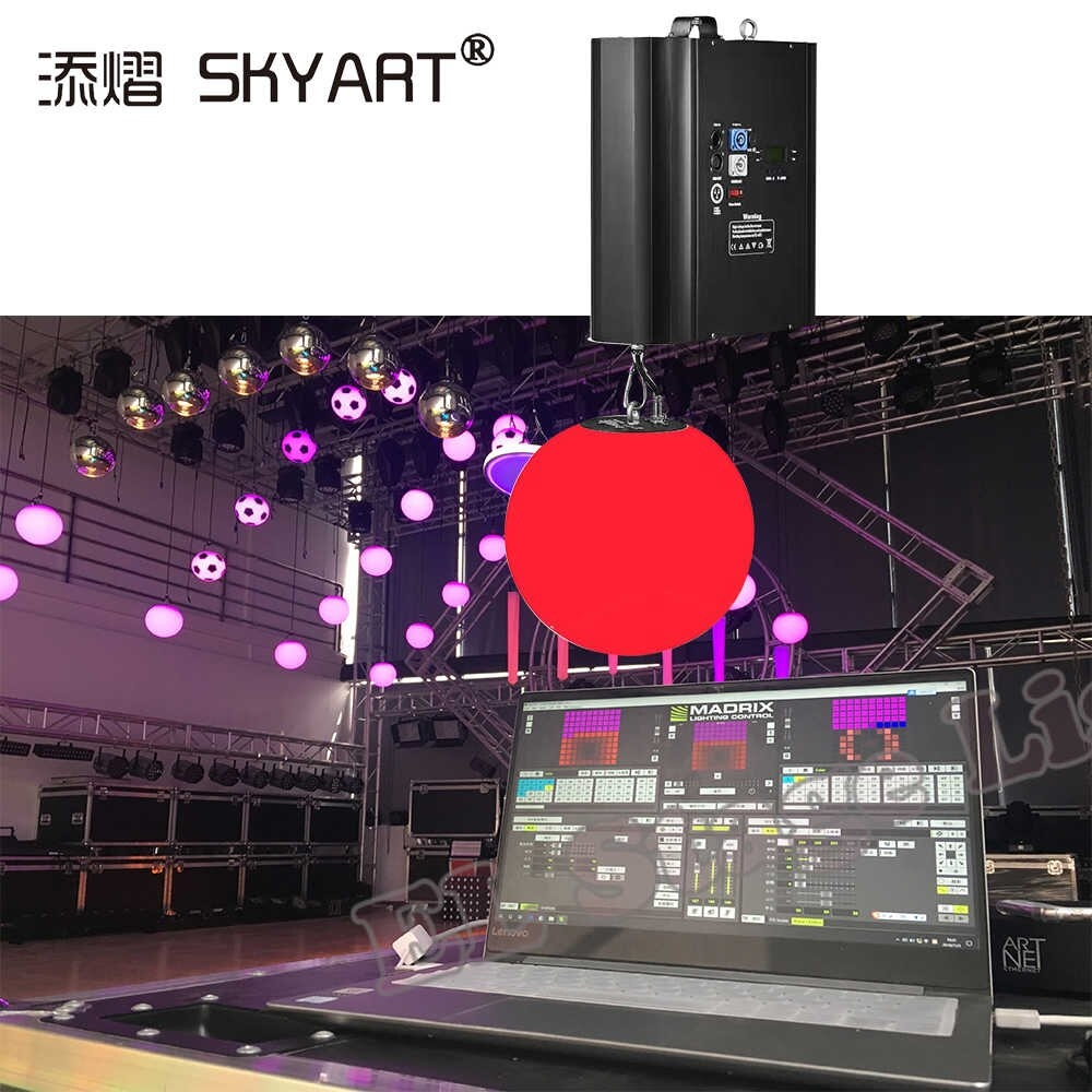newest tradeed light kinetic ball lights installation with dmx winches professional exhibition stage disco dj party