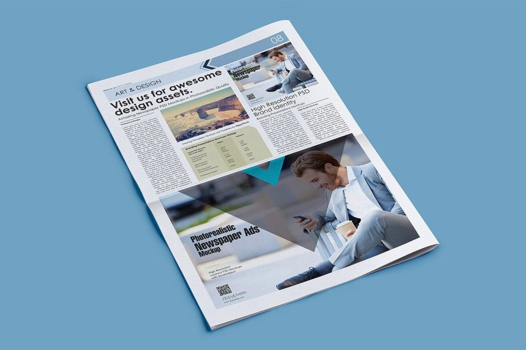 newspaper mockup psds vol 3 newspaper advertising design