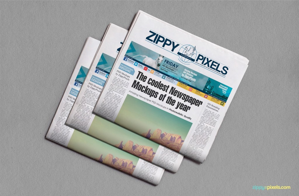 newspaper mockups free psd download zippypixels