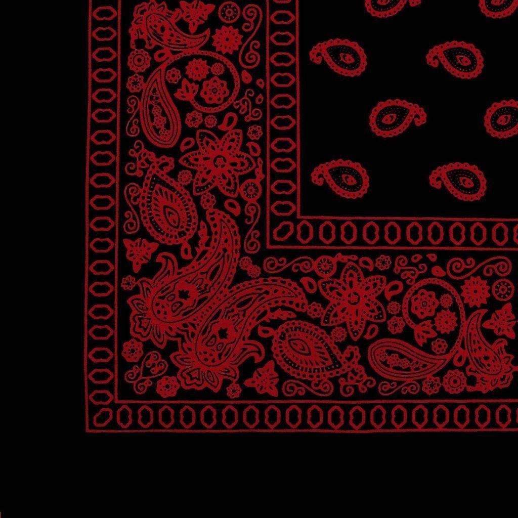 red bandana wallpapers on black and red paisley bandana