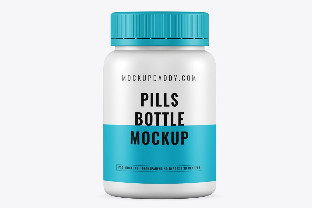 small pills bottle psd mockup free download mockup daddy