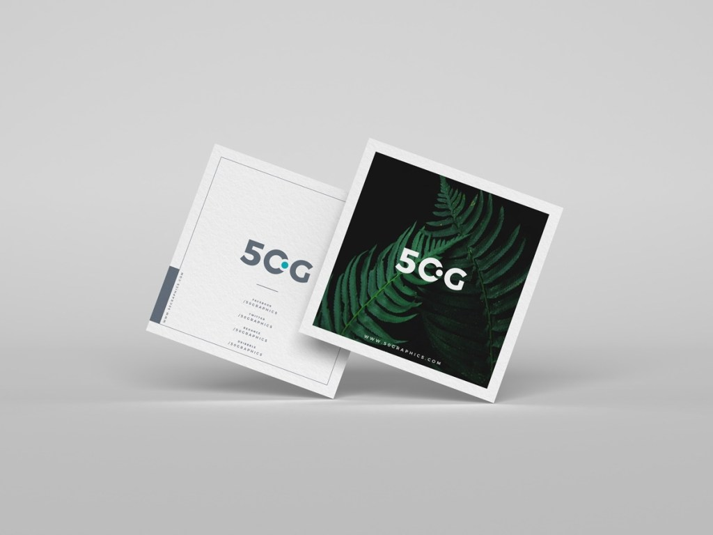 square business cards mockup free on behance