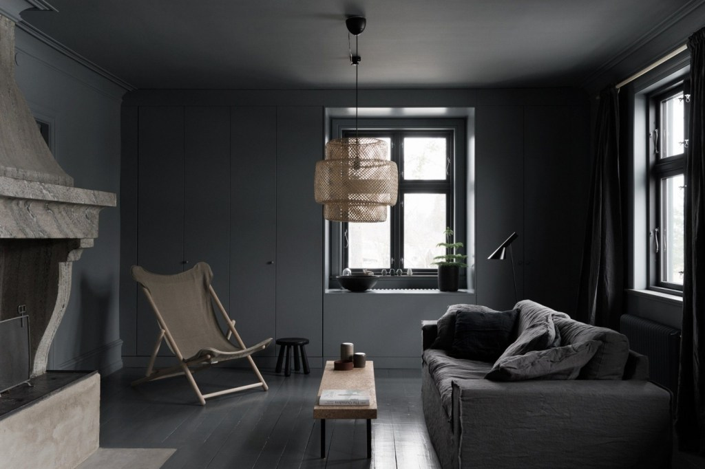 steal this look a noirish living room in coastal sweden