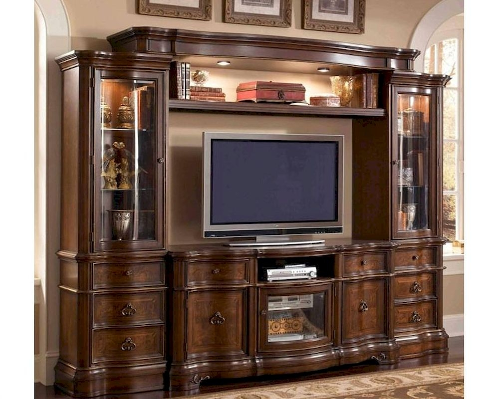 wall unit in classic cherry finish mcfe9100