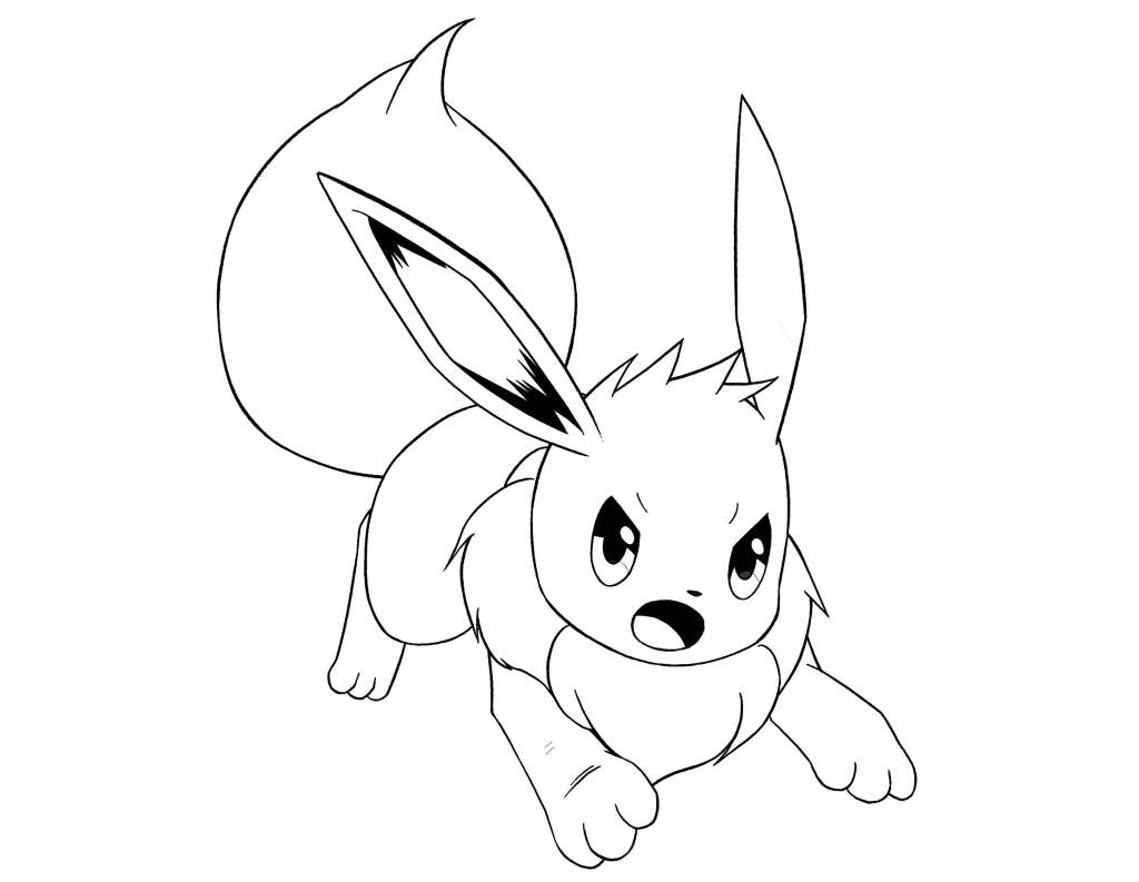 Eevee Coloring Pages Collection