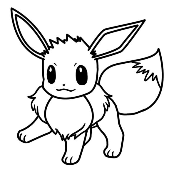 Eevee Coloring Pages Picture