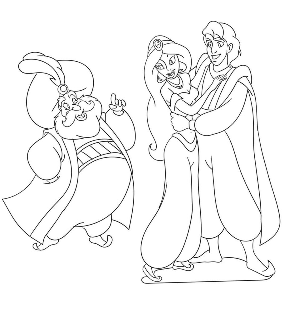 Baby Princess Jasmine Coloring Pages