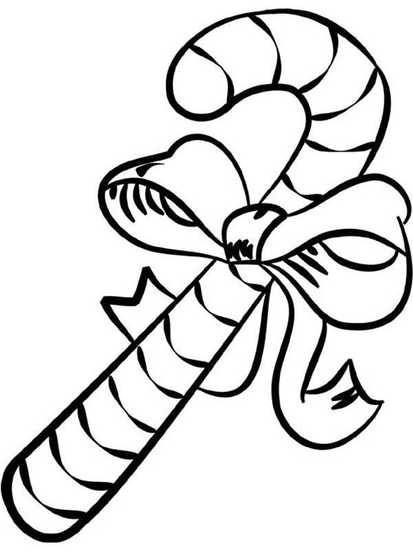 Candy Cane Coloring Sheet Free