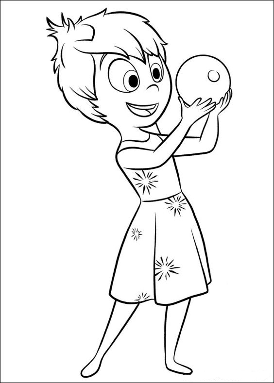 Coloring Pages Of Inside Out