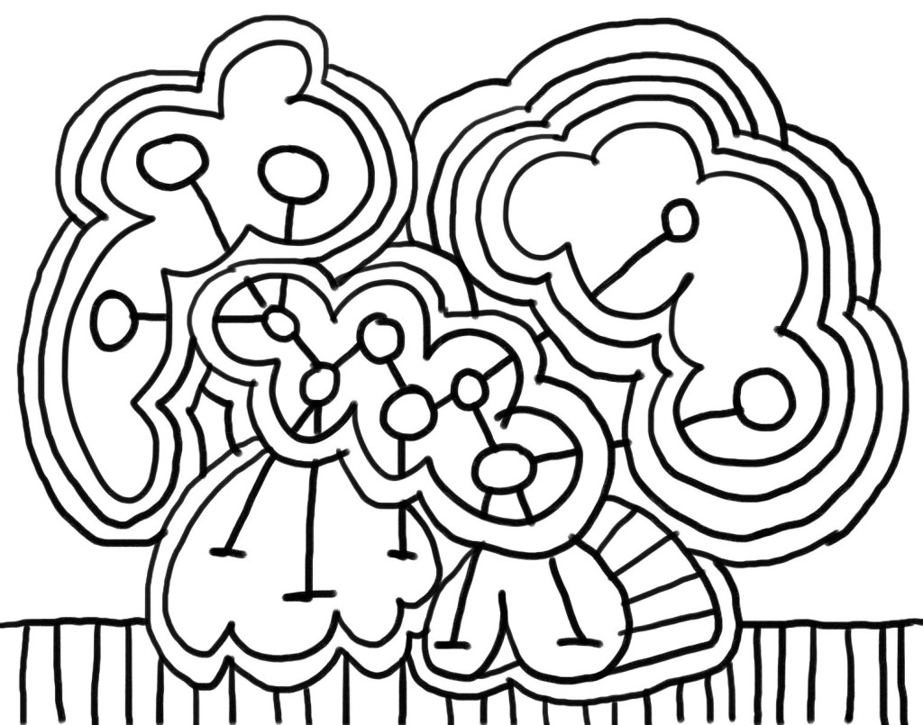 Easy Abstract Coloring Pages