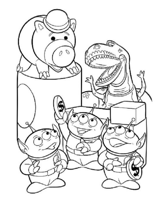 Forky Coloring Page Toy Story 4