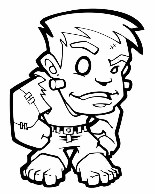 Frankenstein Coloring Pages For Kids