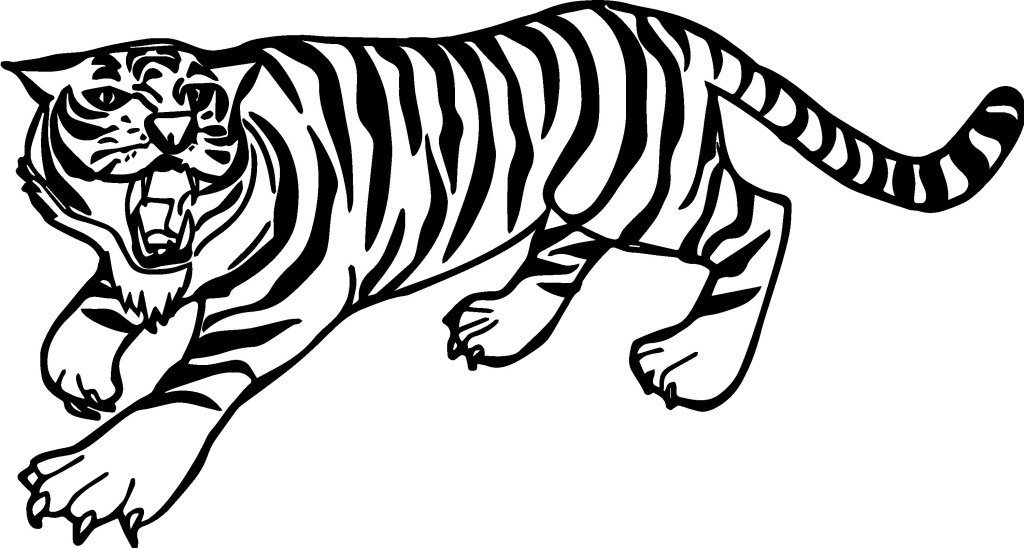Free Coloring Page Tiger