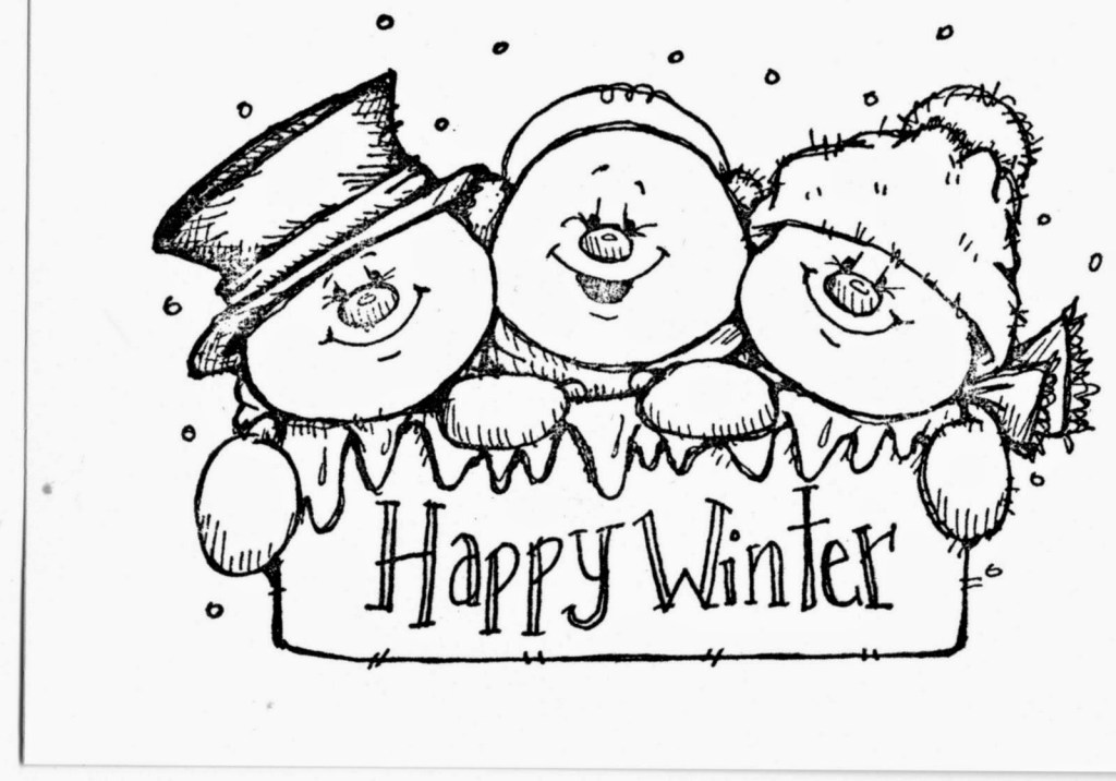 Free Printable Snowman Coloring Pages