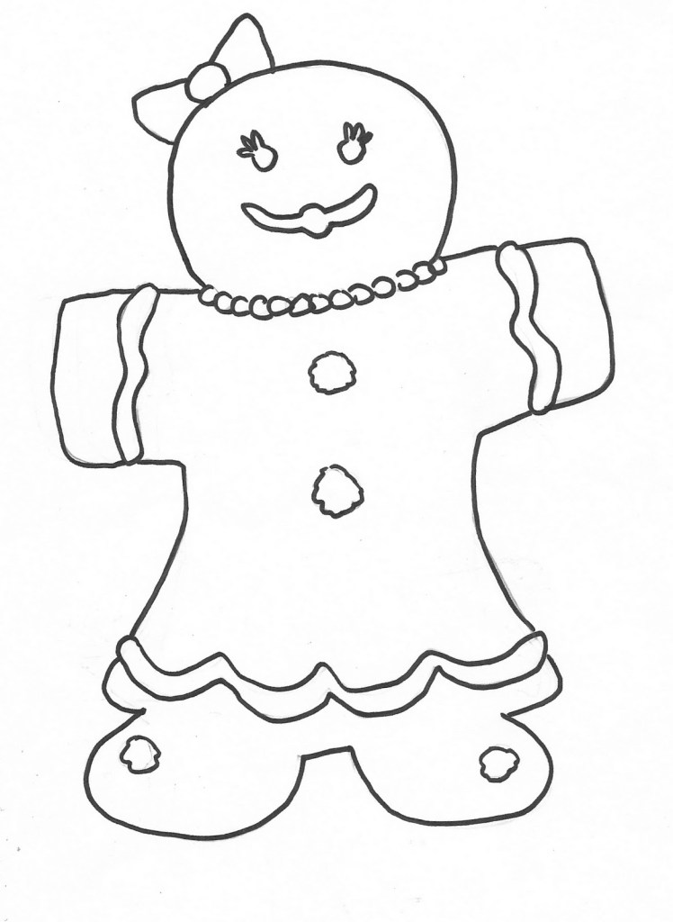 Gingerbread Boy Coloring Page