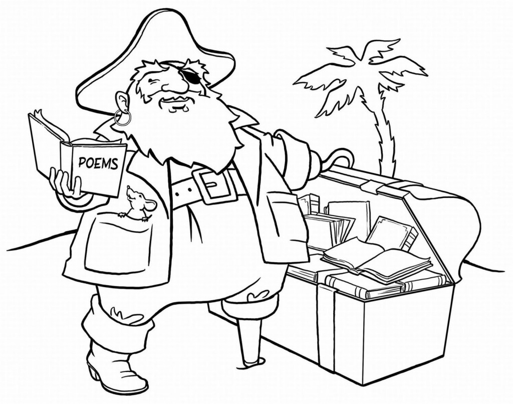 Girl Pirate Coloring Pages