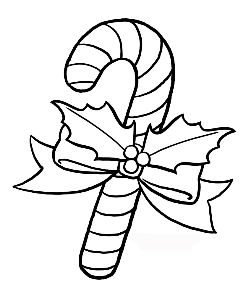 Image Candy Cane Coloring Page