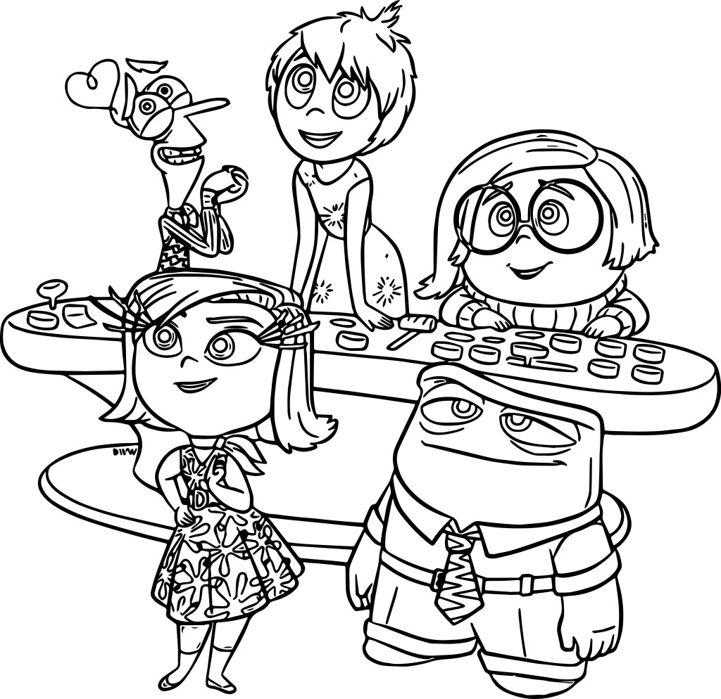 Inside Out Coloring Pages Sadness