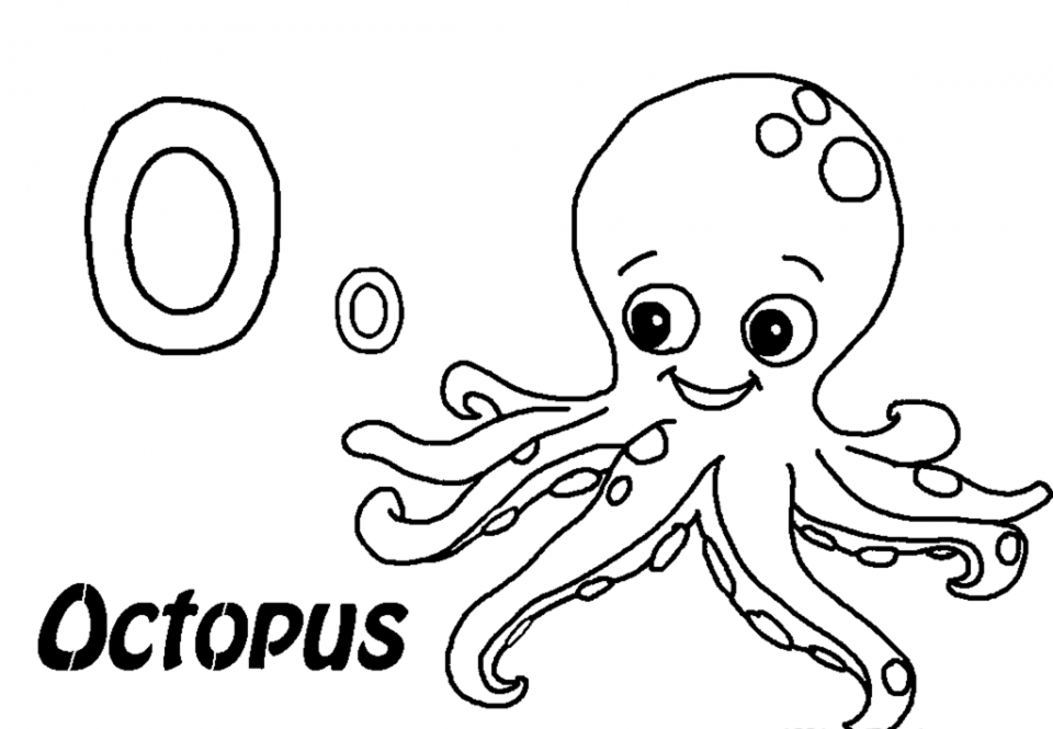 O Is For Octopus Coloring Page