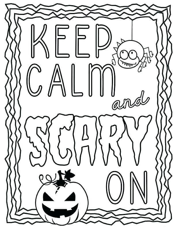 October Coloring Pages Free