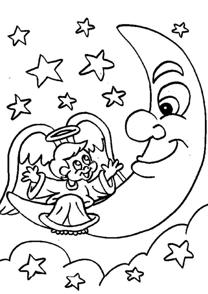 Over The Moon Coloring Pages