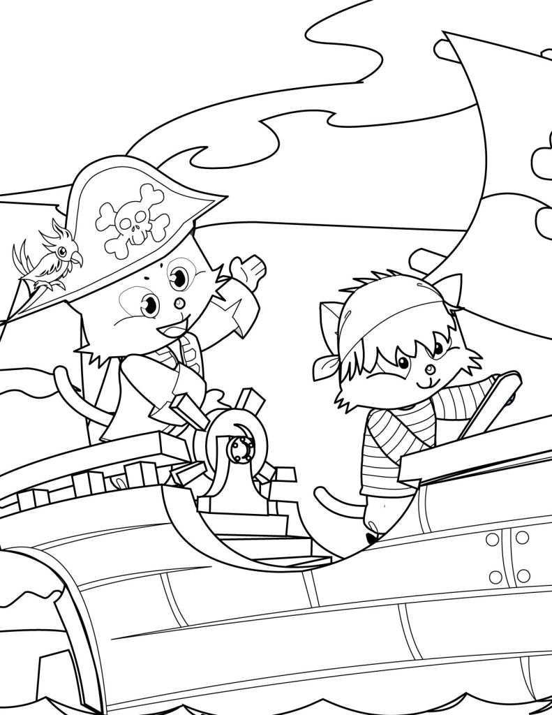 Pirate Coloring Pages Free