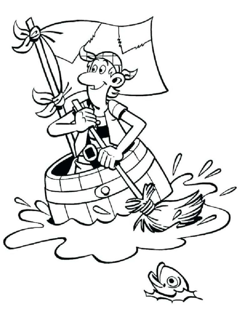 Pirate Fairy Coloring Pages