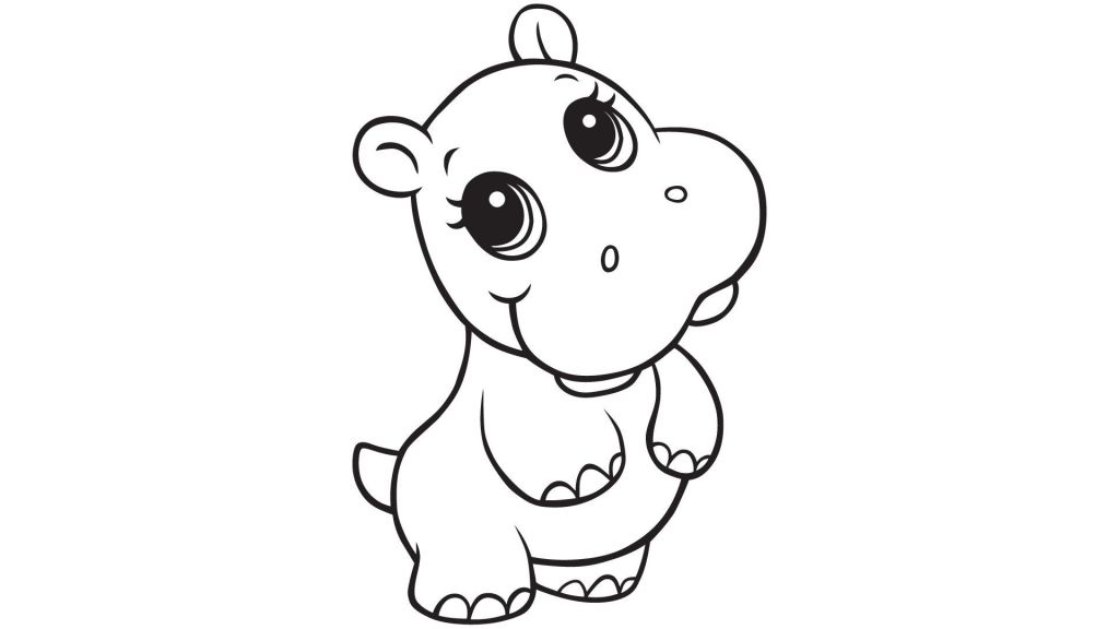 Printable Hippo Coloring Pages
