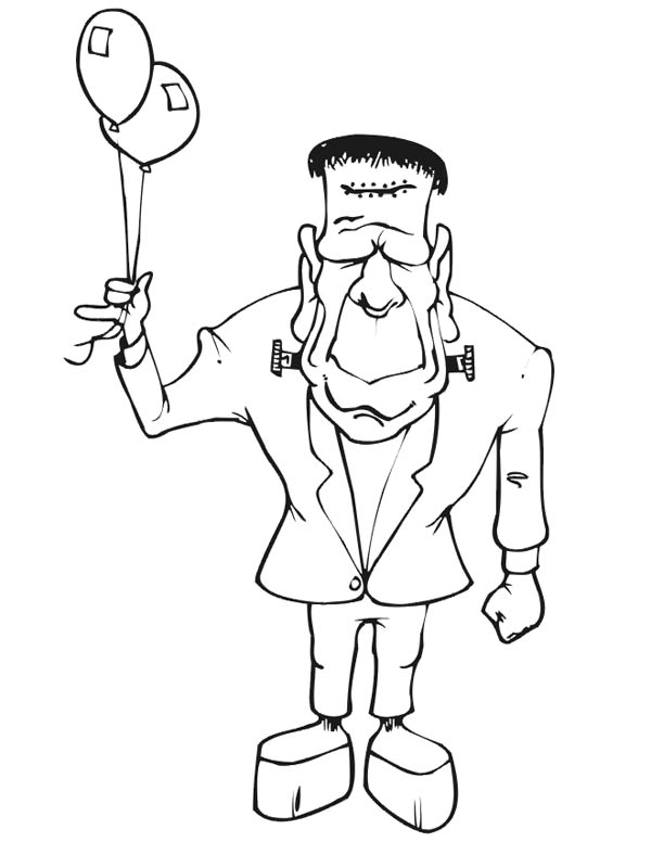 Template Frankenstein Coloring Pages