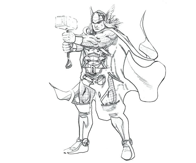 Thor 2 Coloring Pages