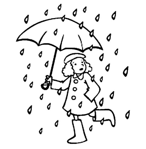 Umbrella Coloring Page For Adult