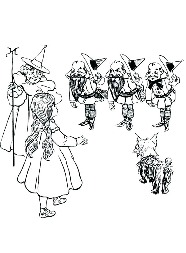 Wizard Of Oz Wicked Witch Coloring Pages