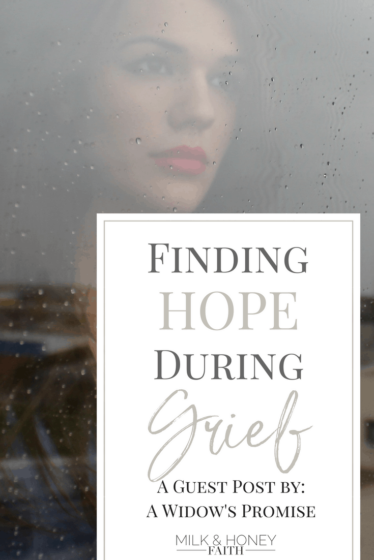 How to find hope while you are suffering from the loss of a loved one. God offers hope while you grieve. Guest post by A Widow's Promise.