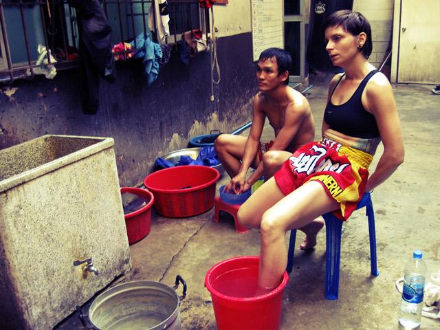 Kayasith Chuwattana + Angela Musicco, Chuwattana Gym, Bangkok, Thailand, 2009.