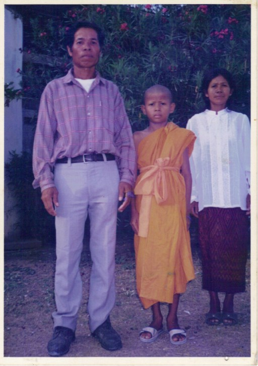 Boom Watthanaya ordained thai monk