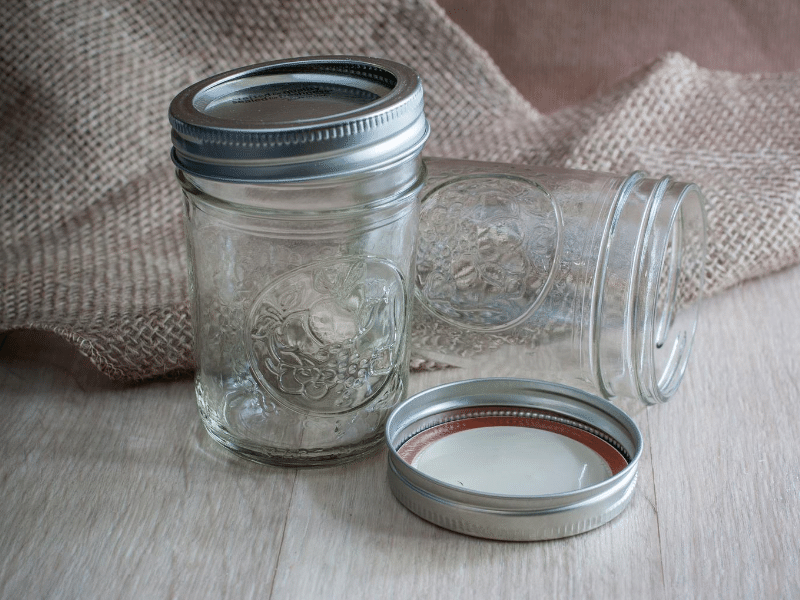 buy canning jars to preserve bulk produce