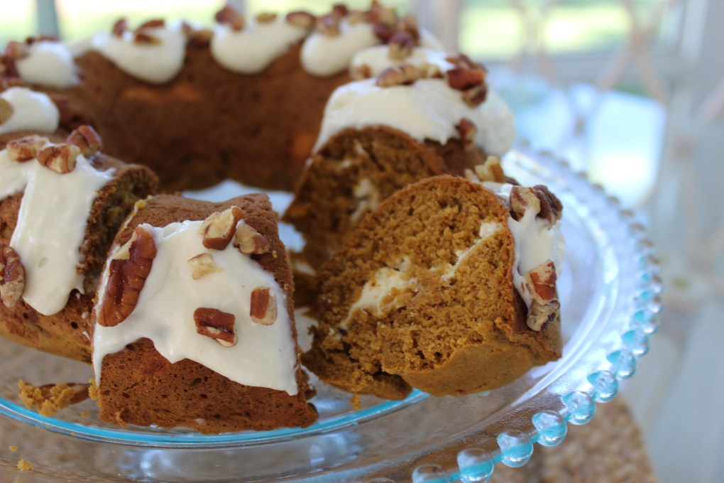 Pumpkin Bundt Cake sliced piece