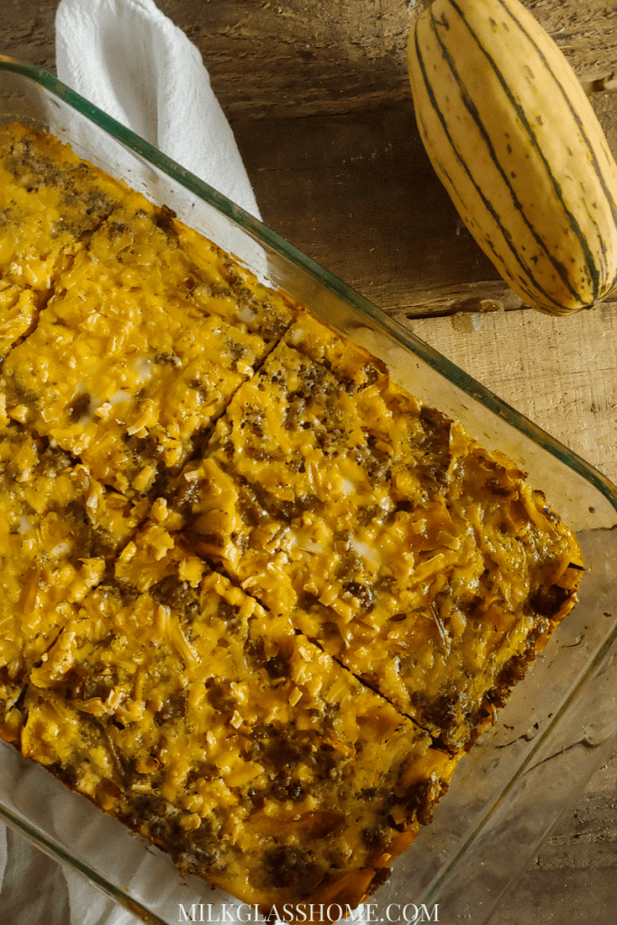 green chile and sausage egg casserole