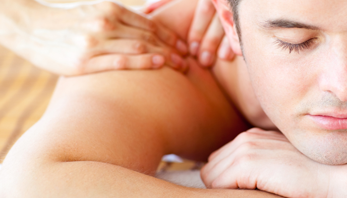 Image of man receiving massage