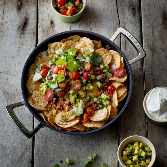 Image of Nachos in Le Creuset dish