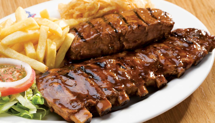 Image of steak and chips