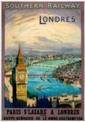 londres tourisme affiche