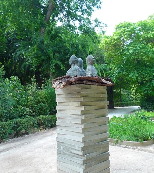 ATHENES - JARDIN NATIONAL - EXPOSITION DE SCULPTURES