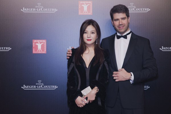 Brand Ambassador Zhao Wei and Jaeger-LeCoultre Deputy CEO Geoffroy Lefebvre at Jaeger-LeCoultre's charity dinner