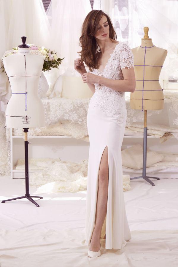 robe de mariée sur mesure atelier emelia Leena